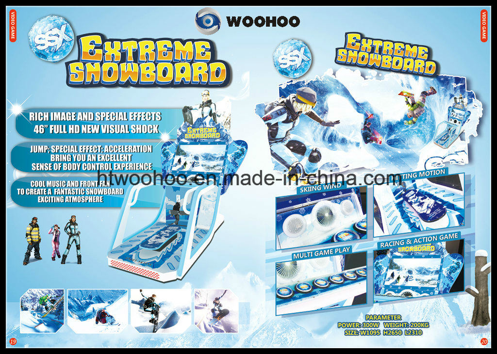 Indoor Playground Snowboard Video Game Coin Operated Machine Simulator