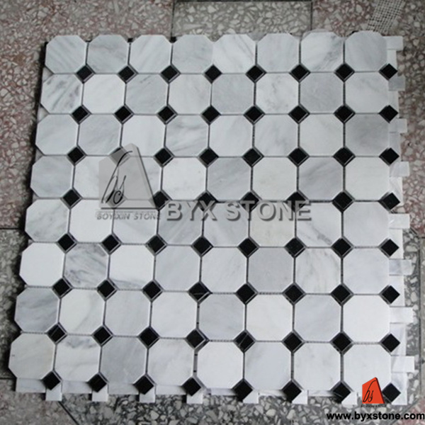 Marble Stone Mosaic for Wall / Water Medallion Floor Decoration