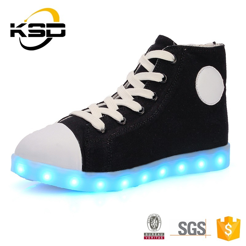 2016 Newly Design Canvas LED Shoes with 7 LED Colors for Adults, Canvas Shoes