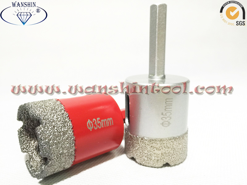 35mm Hex Dry Drill Bit for Granite&Ceramic