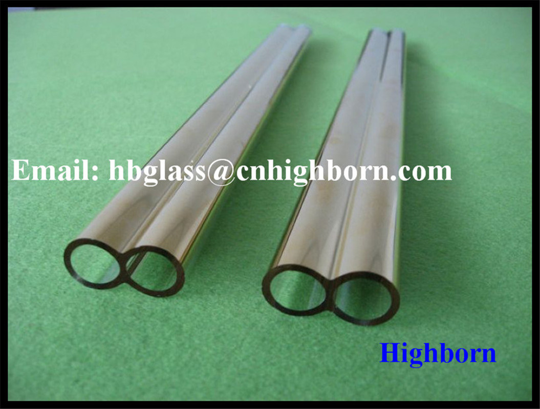 High Purity Gold Plating Fused Silica Quartz Twin Tube