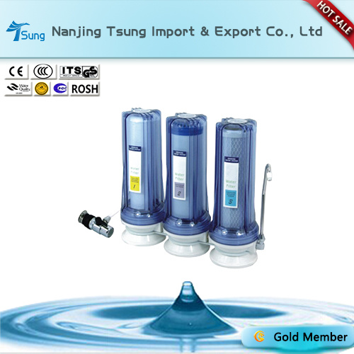 Counter Top 3 Stage Water Purifier with Metal Connector Ty-CT-C6