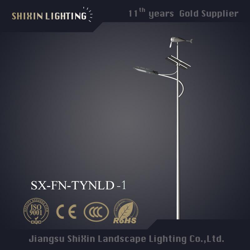Solid 10msolar LED Street Light Pole