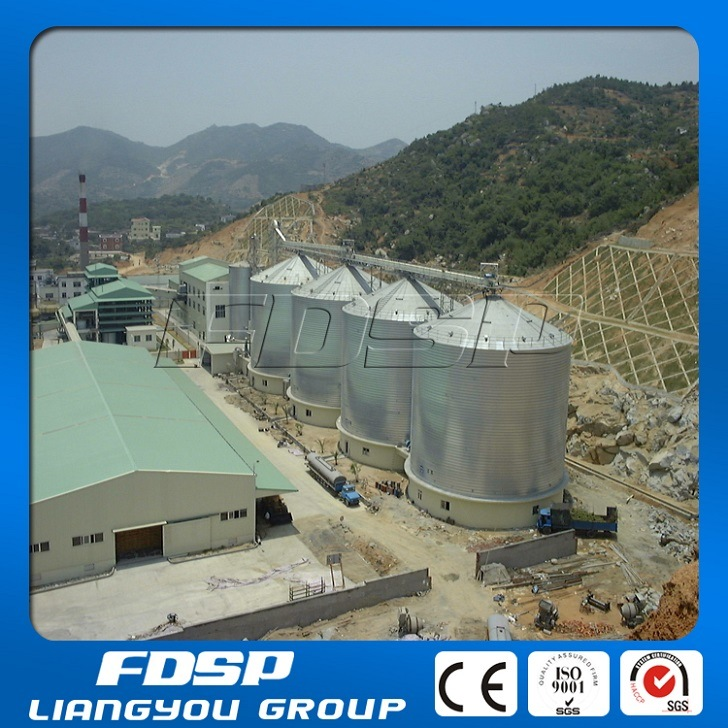 Sawdust Pellet Silo with Conic Basement Concrete Supporting