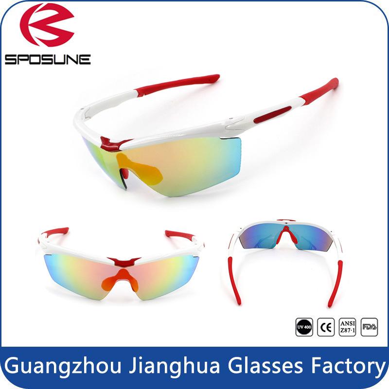 Mens Women Hot Popular Cycling Sunglasses Wholesale Anti-Slip Waterproof Revo Lenses Sport Eyewear