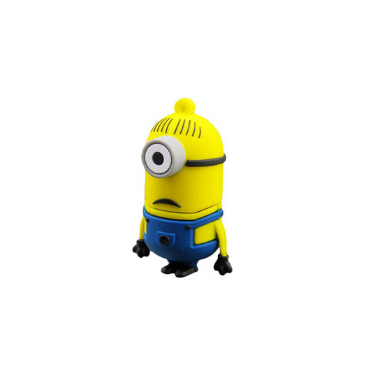 Factory Price 2GB / 4GB / 16GB / 32GB /64GB PVC Cute Minion USB Flash Drive for Gift Toy