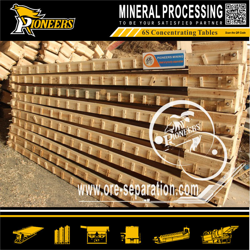 Coarse Ore Sorting Remove Sulfide Mineral Machinery Wood Shaker Table