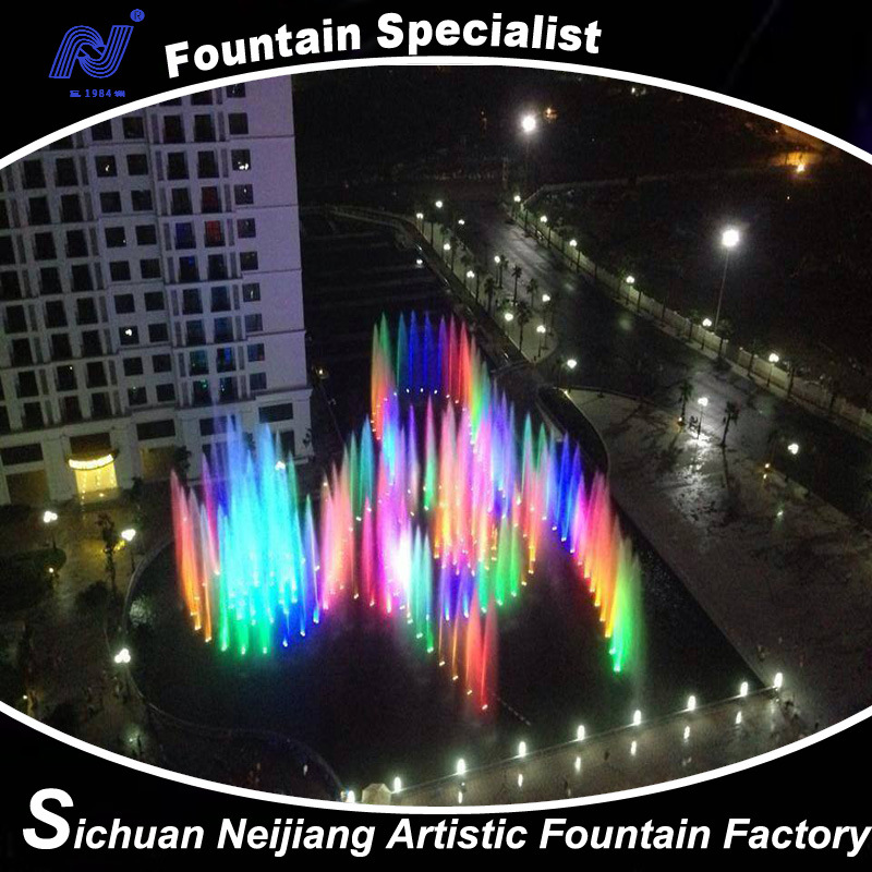 Vietnam Fountain 3D Complex Large Musical Dancing Water Fountain