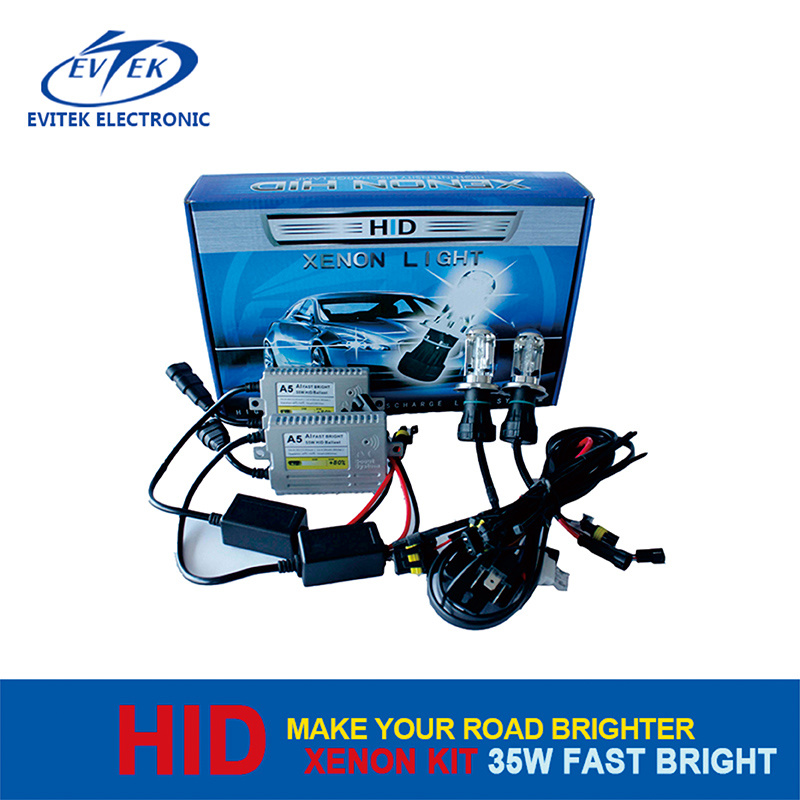 2016 Evitek Factory Price and High Quality Tn-F3 35W 12V Fast Bright Xenon Kit HID Headlight Light up in 1 Second