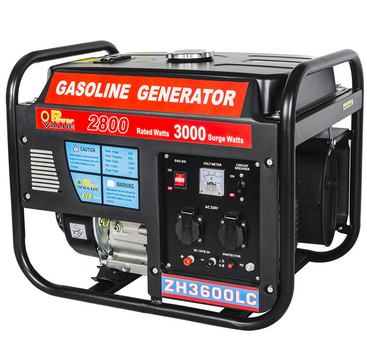Factory Price 3kw Gasoline Partable 220V Engine Generator Set