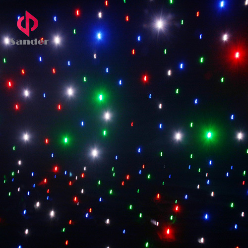 RGBW LED Star Cloth Curtain LED Starlit Curtain for Bar, Disco, Hot Party Decoration