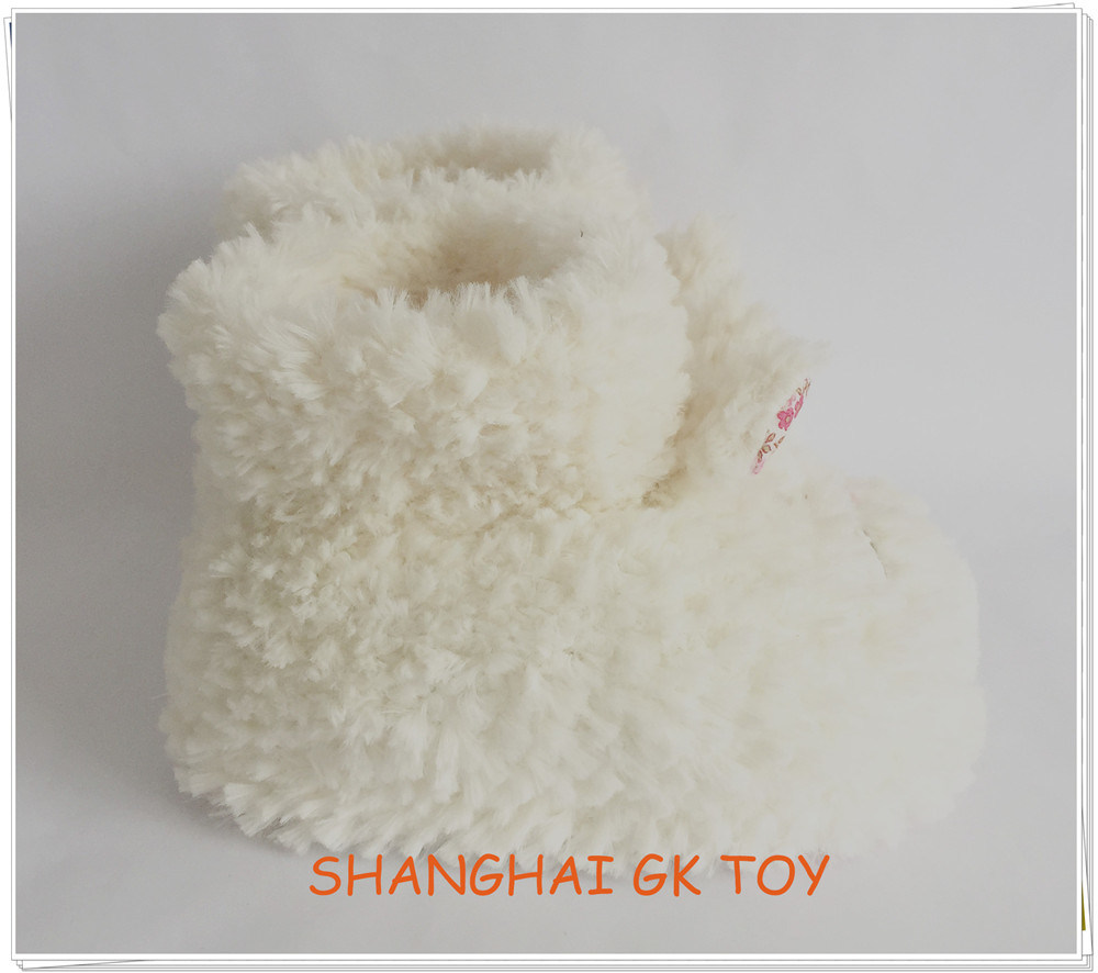 Beige Plush Rabbit Indoor Animal Shoes