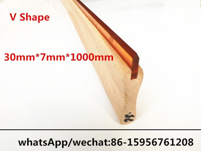 V Shaped Screen Wooden Squeegee