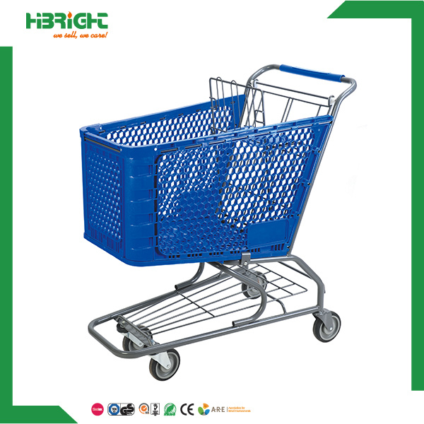 Good Price Plastic Grocery Shopping Carts for Sale