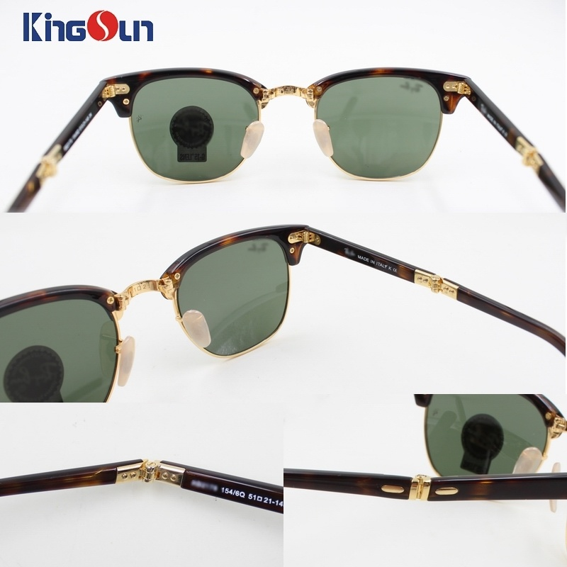 High Quality Folding Acetate/Tr Sunglasses with Glass Lens Ks1160