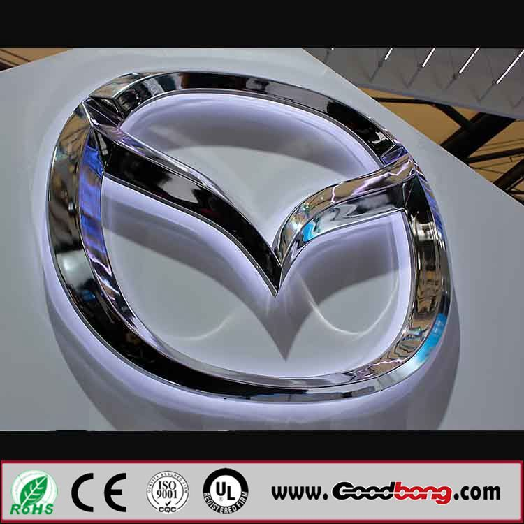 Customed Vacuum Forming Acrylic LED Illuminated Car Logos