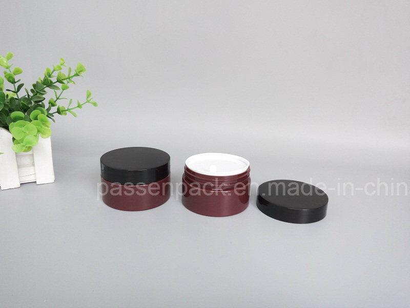 Amber Pet Jar for Cosmetics Sincare Cream (PPC-66)