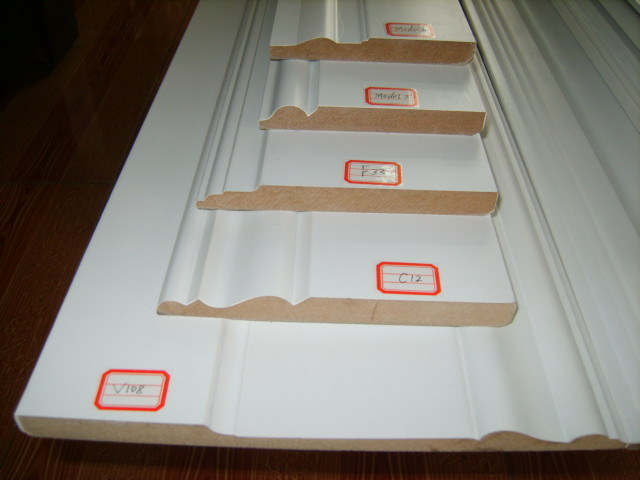 Good Quality MDF Pre-Primed and Painted Skirting Board