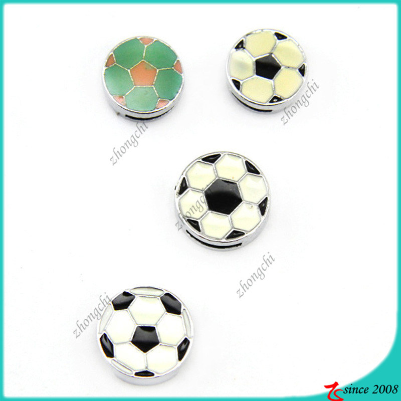 Enamel Soccor Slide Charms for Jewelry accessories (SC16040915)