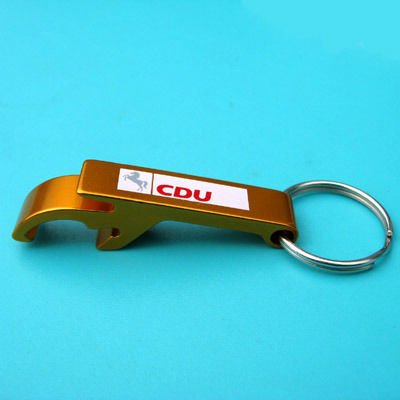 Aluminum Bottle Opener with Laser Logo