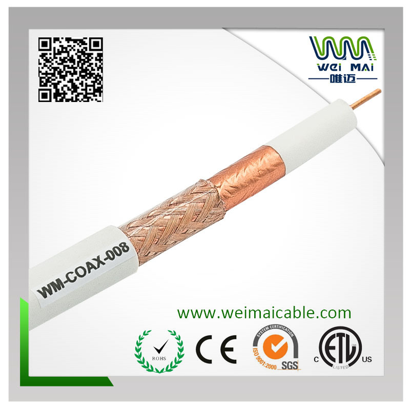 90% Braiding 18AWG Bc RG6 Coaxial Cable