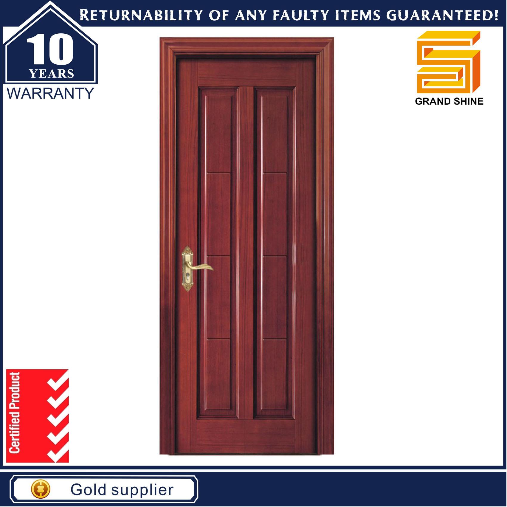 Interior Room Wooden Sliding MDF Veneer Wood Panel Door