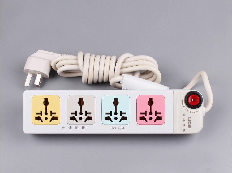 Convenience 5 Outlet Universal Power Strip/Individual Switch Design