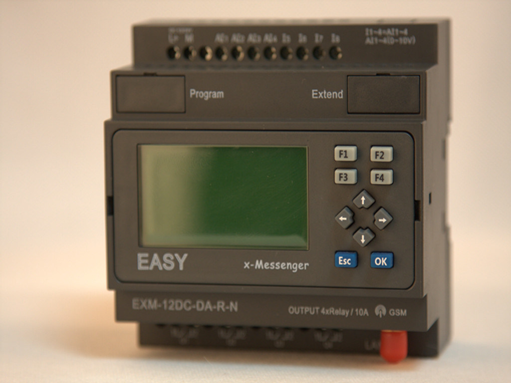 GSM/SMS/GPRS PLC, Ideal Solution for Remote Control& Monitoring &Alarming Applications (EXM-12DC-DA-R-N-HMI)