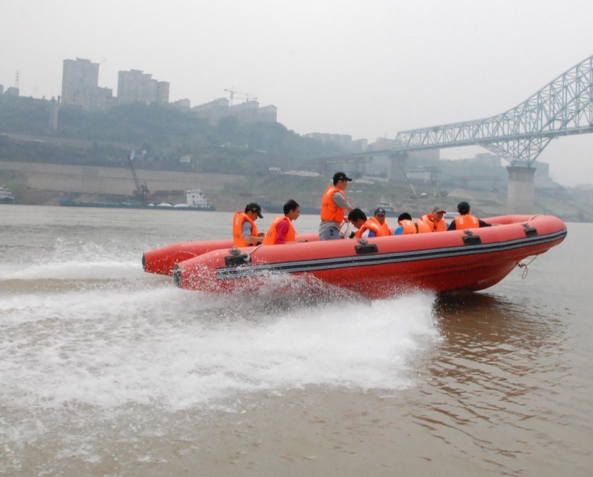 6 Meters Fiberglass Rescure Speed Boat with Rib Rail