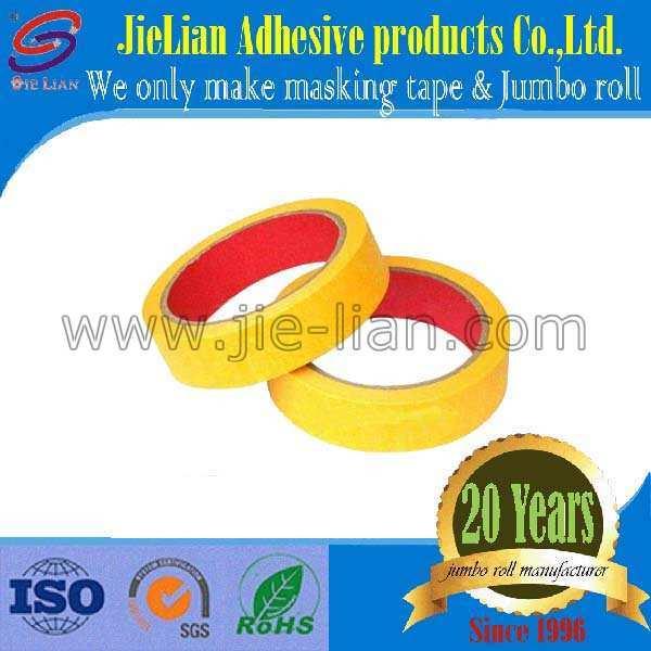 Wholesale Yellow Masking Tape Jumbo Roll for General Purpose