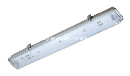 Weather Proof Fitting with LED T8 Tubes