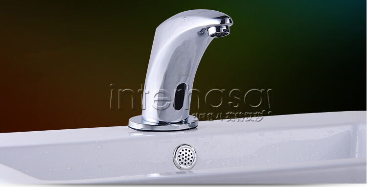 Deck-Mounted New Style No Handle Kitchen Bathroom Toilet Automatic Tap Sensor Brass Basin Faucet