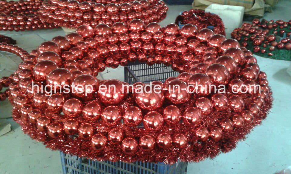Christmas Wreath with Ball Decoration