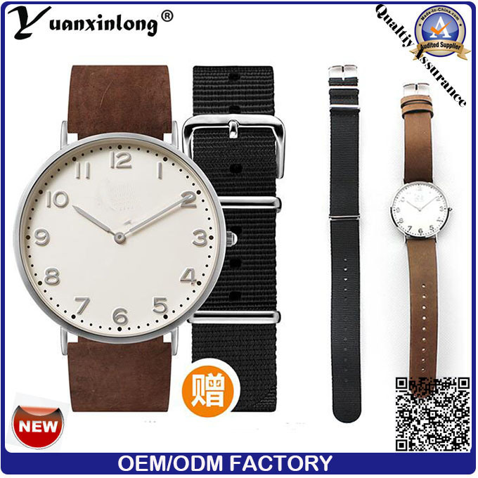 Yxl-744 Factory Quartz Watches Men Custom Leather Watches for Men