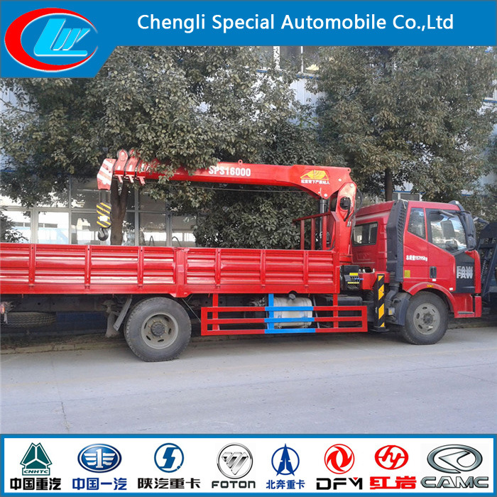 FAW 6 Wheels Truck Mounted Crane for Sale