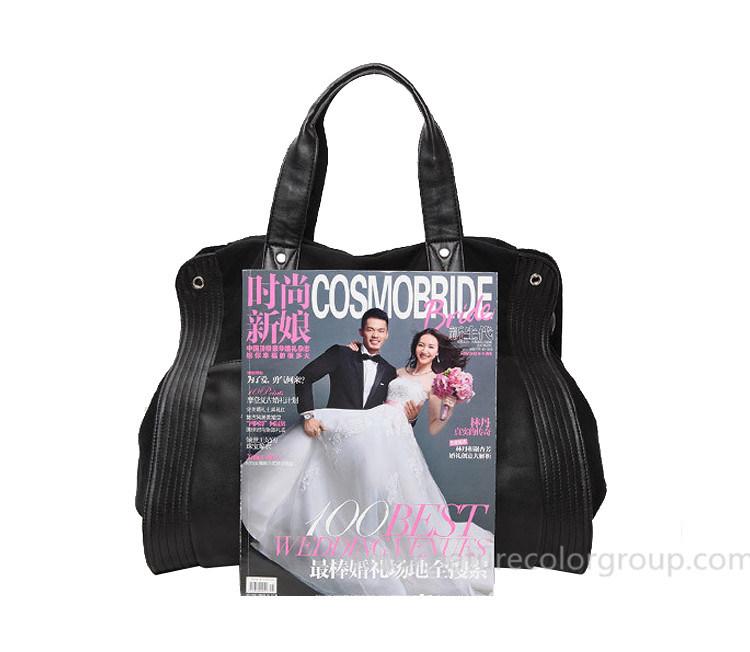 Leisure Canvas Black Handbag for Outdoor