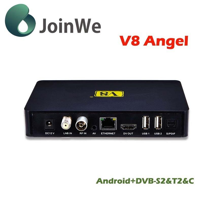 V8 Angelandroid 4.4 IPTV+DVB-S2/T2/C Best HD Satellite Receiver