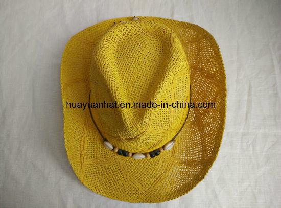 100% Paper Toyo Cowboy Hat Shapeable Brim Hat