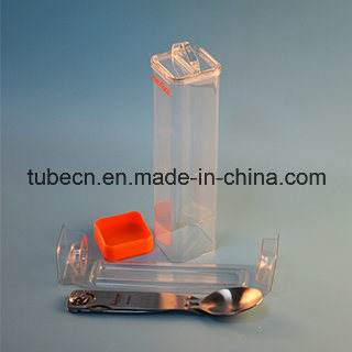 Transparent Square Plastic Packaging Tube