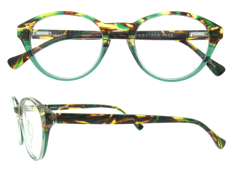2017 Italy Design Bright Color Acetate Eyeglasses Frame