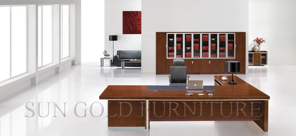 China Wooden Office Desk Large Luxury Executive Desk SZOD358