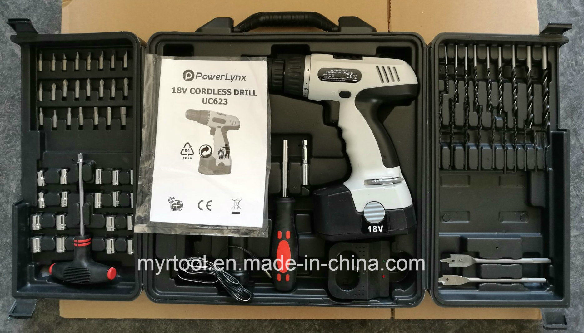 78PCS Professional Cordless Drill Tool Set (FY1078B-E)