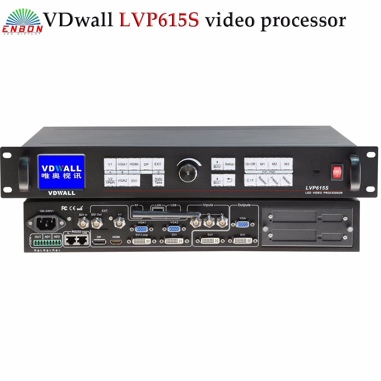 1920*1080 Vdwall Lvp615 Series HD Resolution LED Video Processor