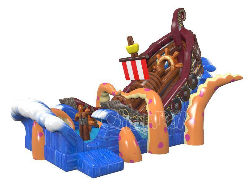 Kraken Attack Giant Inflatable Slide for Sale Chsl670