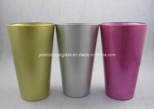 Pearl Finish Sublimation Pint Glass, 16oz Glass Tumbler