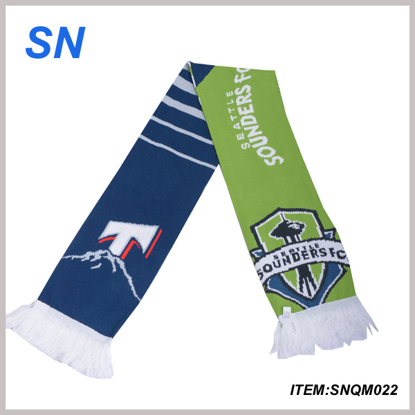 2015 China Online Shopping Stock Acrylic Football Scarf