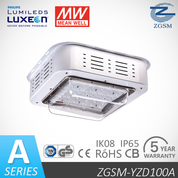 Explosionproof Philips Chips LED Canopy Light with 5 Year Warranty