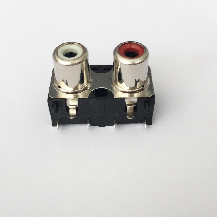 AV Socket with The Core Lotus Single-Hole RCA Socket Audio and Video Terminals AV2-8.4-20b