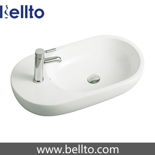 Ceramic/Porcelain Sanitary Ware Wash Basin with Bathroom Accessories (3058B)