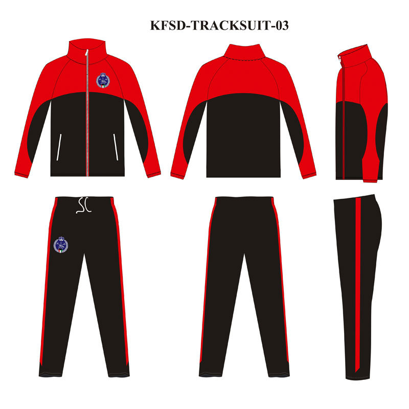 Custom Deisgn 2 Color Warm up Sports Wear with 100% Polyester